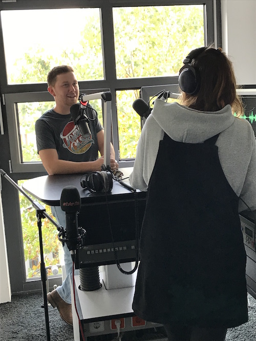 Scotty McCreery interviews at Berlin Star FM October 2019